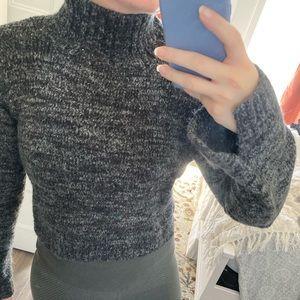 Zara cropped mock neck sweater